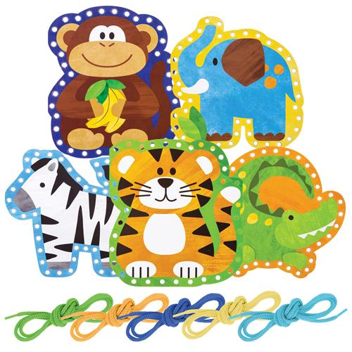 Zoo Lacing Cards 1
