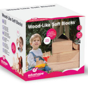Wood Like Soft Blocks - 30 piece